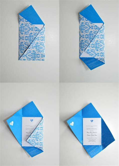 4 Fold Invitation Card Template by Fold Design Pinteres