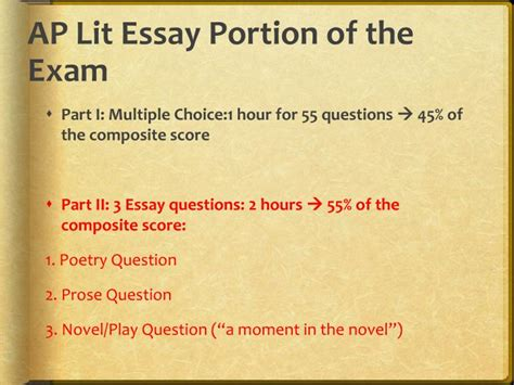 Ap Literature Essay Question 3 by Ppt Responding To An Ap Lit Prompt Powerpoint Presentation Id 5641538