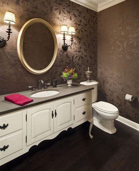 Gorgeous Wallpaper Ideas For Your Modern Bathroom Bathroom Wallpaper Ideas