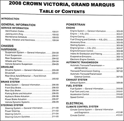 car repair manuals online free 2008 mercury grand marquis security system 2008 crown victoria grand marquis repair shop manual original