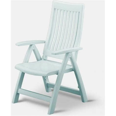 High Back Plastic Patio Chairs Kettler Roma Resin High Back Folding And Reclining Chair White Ultimate Patio
