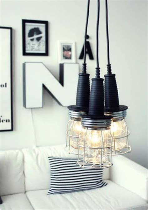 awesome trio pendant lights hung above interesting diy 50 coolest diy pendant lights