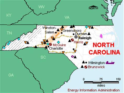 carolina industry map a to z the usa carolina energy profile