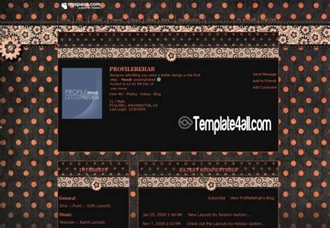 myspace layout design software the game layouts myspacedownload free software programs