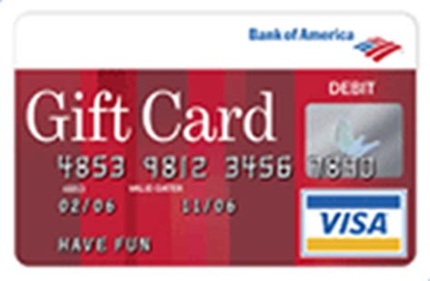 Bank Of America Visa Gift Card - bank gift card