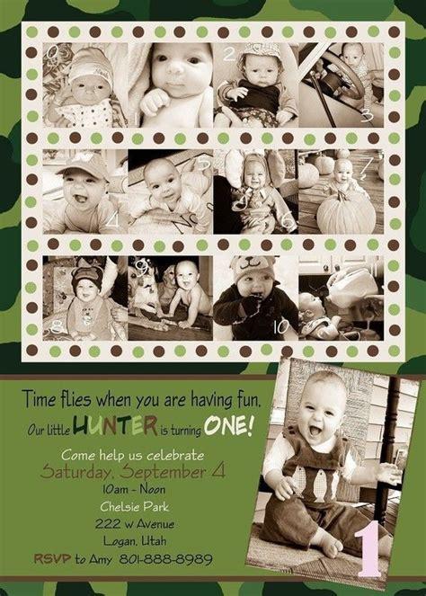 Handmade Photo Collage For Birthday - custom photo card collage baby birthday camouflage