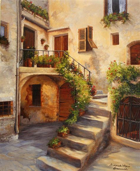 Tuscan Home Designs by Tuscan Courtyard By Deborah Bonuccelli