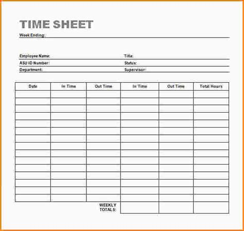 Clock In Clock Out Sheet Template 28 clock in clock out sheet template 22 simple timesheet