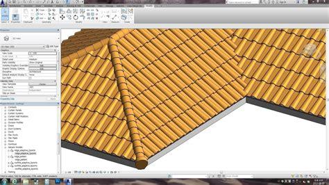 revit roof tutorial 2013 revit family spanish roof adaptive videotutori