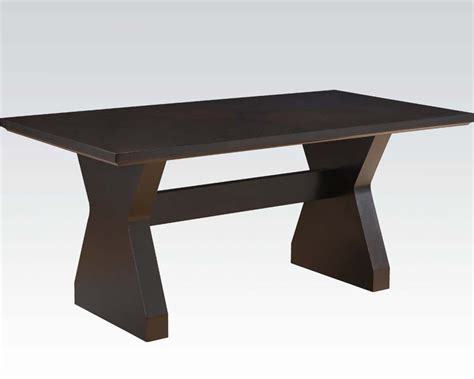 modern style dining tables dining table in contemporary style effie by acme furniture