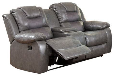 leather reclining sofa with cup holders leather match motion sofa love seat recliners with storage