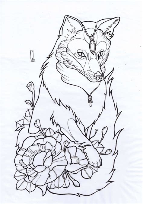 tattoo drawing designs tumblr clare lake fox thigh design is reserved do