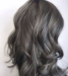 brown hair with grey highlights 25 best ideas about ash grey hair on pinterest ash hair
