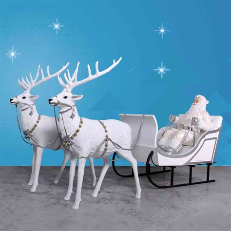 170 quot wide giant santa sleigh two reindeer