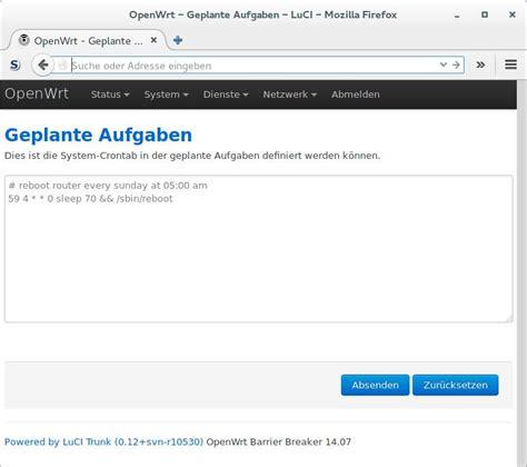 Router Openwrt Openwrt Router Neustart Ohne Dauerschleife Michis