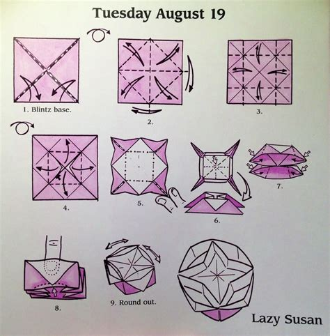 how to make a lazy susan for a kitchen cabinet origami lazy susan diagram crafts pinterest