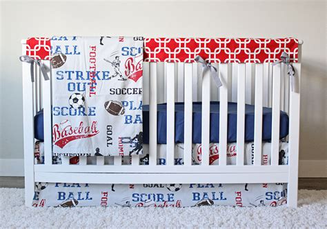 sports themed crib bedding sports crib bedding soccer football baseball bedding set