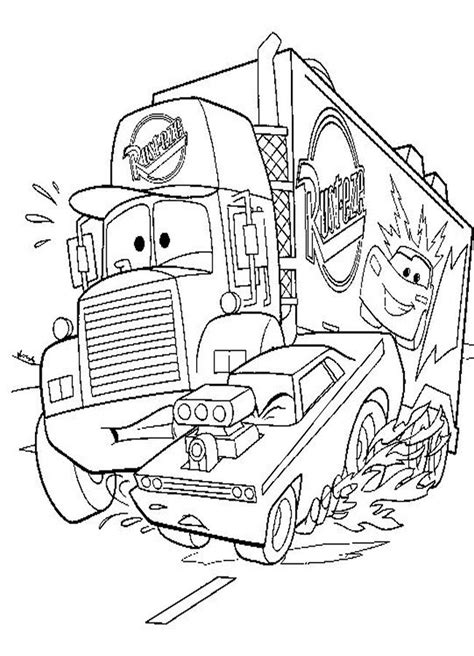 free coloring pages of cars dinoco