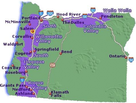 map of oregon wine country map of oregon wine country go northwest a travel guide