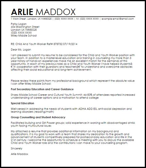youth worker cover letter sample best solutions of sample cover