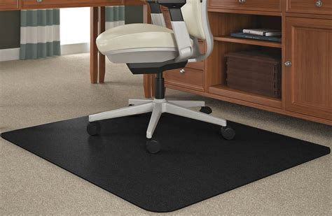 Plastic Floor Mats For Desk Chairs by Black Chair Mats For Medium Pile Carpets 36 Quot X 48