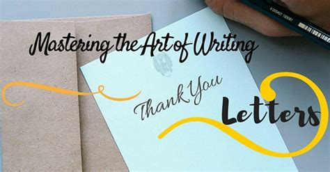 Thank You Note To Master Writing Thank You Letters