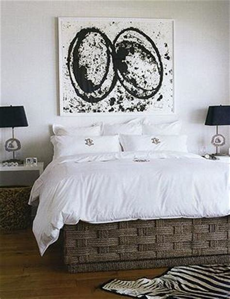 nate berkus master bedroom decorating ideas black and white abstract art transitional bedroom