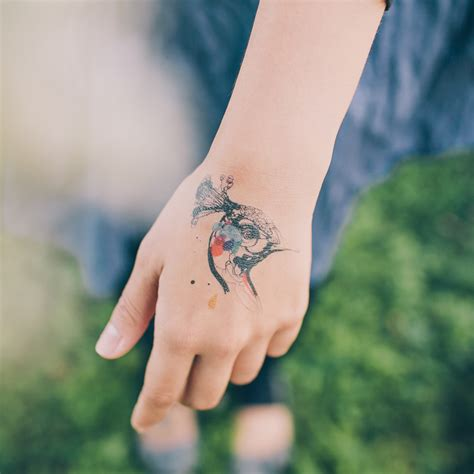 tattly tattoos peacock temporary set of 2 stina persson tattly