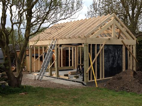 timber framed garages images