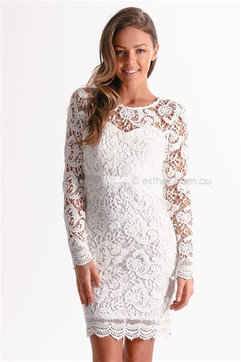 orchard lace cocktail dress ivory esther clothing