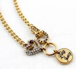 Juicy couture love luck charm necklace