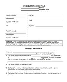 9 sle separation agreement free sle exle