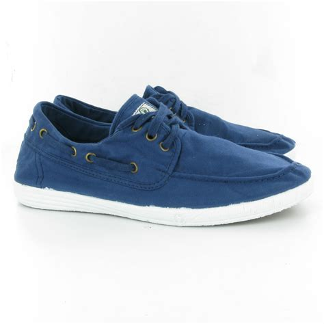 world 303 canvas boat shoes in blue