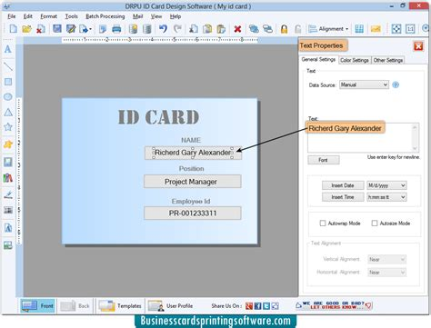 mac id card design software screenshots for designing and id cards designing software screenshots for how to create