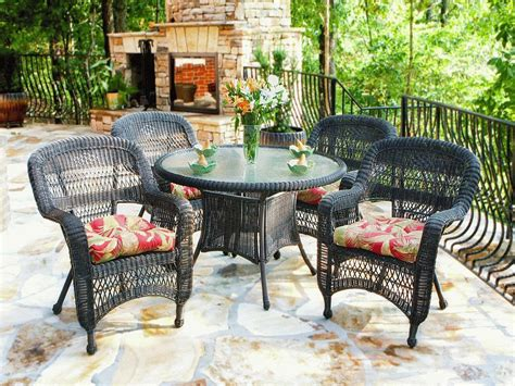 Wicker Patio Dining Set Outdoor Decorations Rattan Patio Dining Set