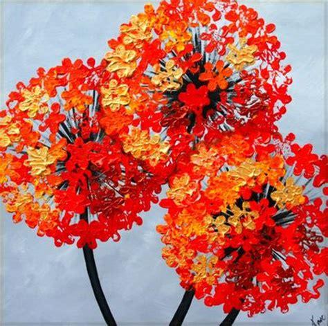 Interior Paintings For Home autumn alliums acrylic on box canvas