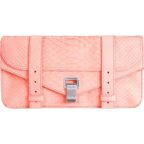 Found A Perfectly Chic Python Leather Clutch by Proenza Schouler Bags