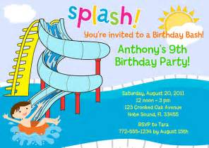 free printable birthday pool party invitations drevio