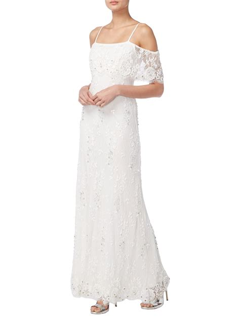 beaded bridal gown raishma lace beaded bridal gown style ivory bardot dresses