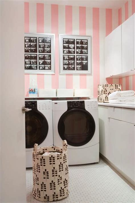 Pink Laundry Room Transitional Laundry Room House Home Pink Laundry