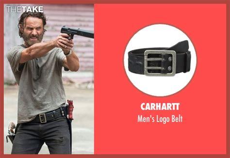 Rick Grimes Walking Dead Belt Set rick grimes s black carhartt s logo belt from the walking dead season 6 looks thetake
