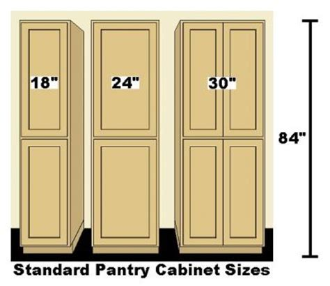 Pantry Sizes by Image Standard Kitchen Pantry Cabinets