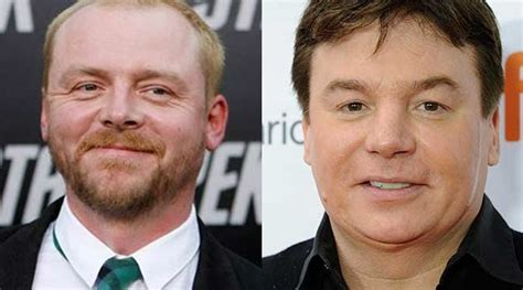 mike myers grey simon pegg mike myers to star in terminal the indian
