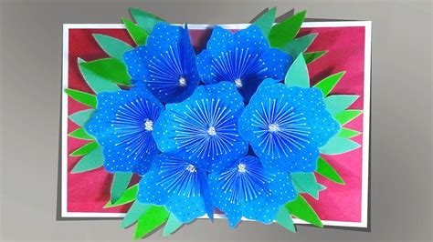 3d Flower Pop Up Card Template by How To Make A 3d Flower Pop Up Card