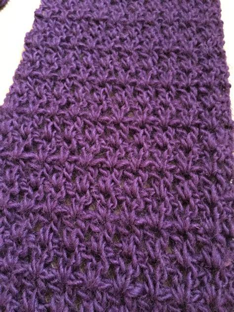 knitting needles for scarves purple v stitch scarf no needle knitting