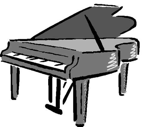 woman grand piano notes cartoon piano clip art free vector