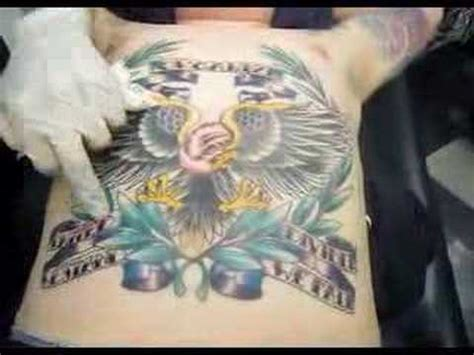 eagle tattoo belly eagle tattoo on entire stomach youtube