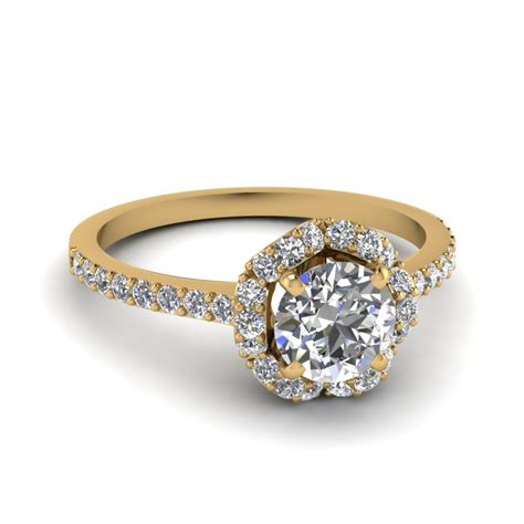 7 Engagement Rings From Since1910 by Flower Engagement Ring In 14k Yellow Gold