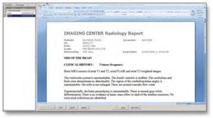 Radiology Report Template Solutions
