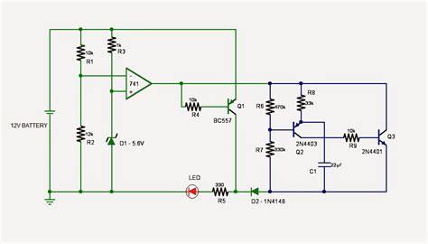 led voltage indicator circuit led battery low indicator circuit